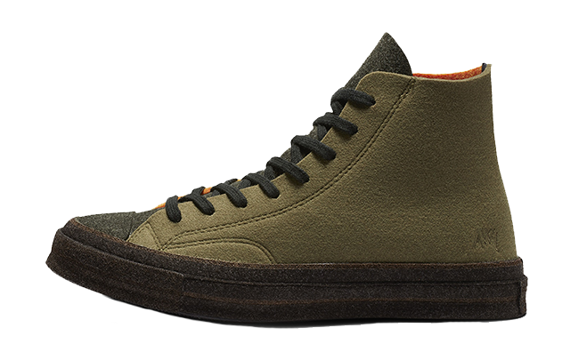 Converse X JW Anderson Chuck 70 Hi Green Orange 162953C