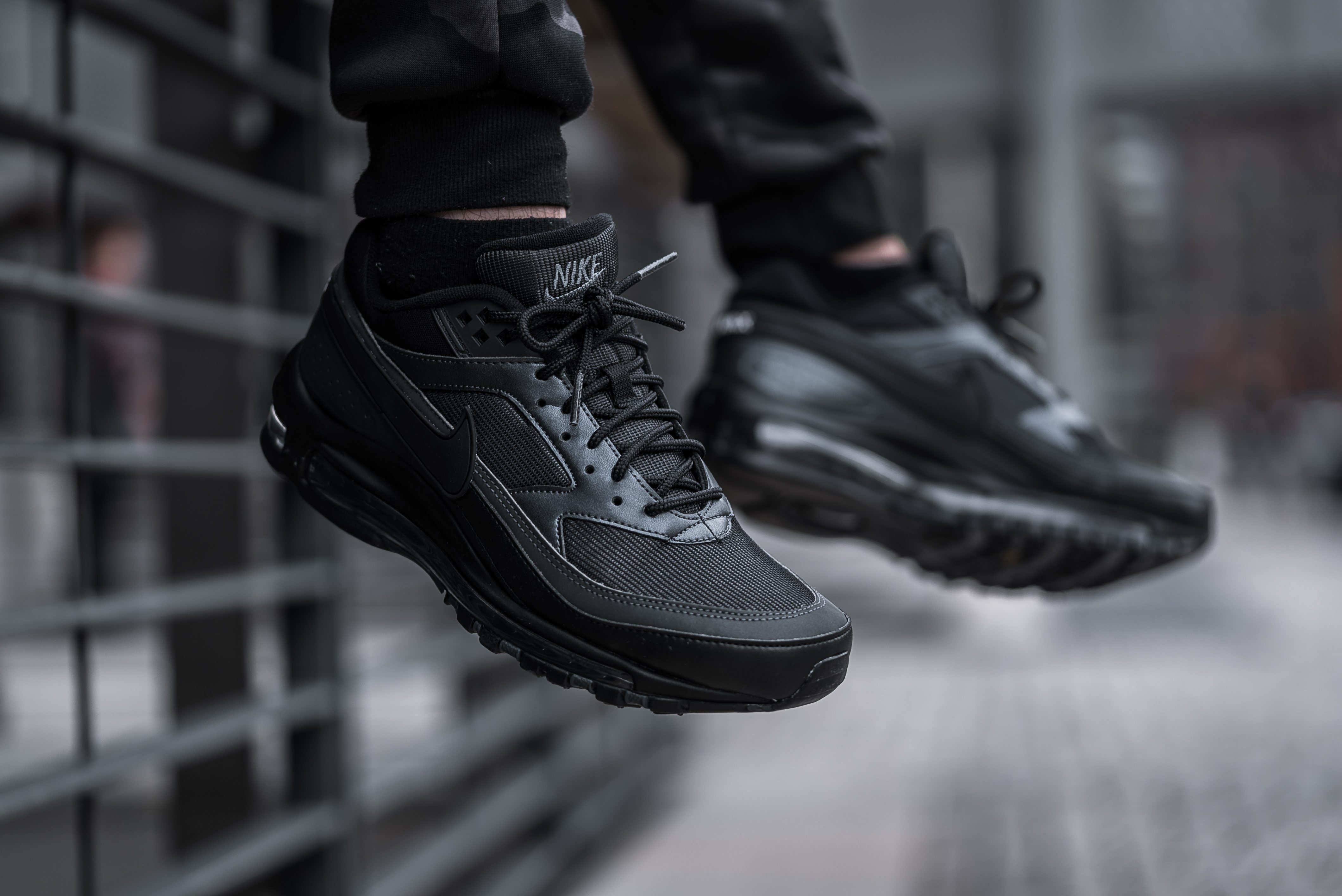 Take An On Foot Look At The Nike Air Max 97/BW Triple Black