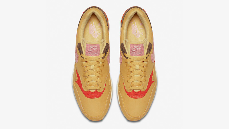 Nike Air Max 1 Crepe Wheat Gold Rust Pink
