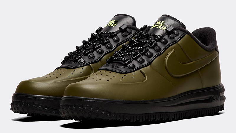 Nike Lunar Force 1 Duckboot Low Trainer Olive Canvas