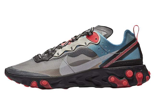 Nike React Element 87 Grey Blue Red AQ1090-006