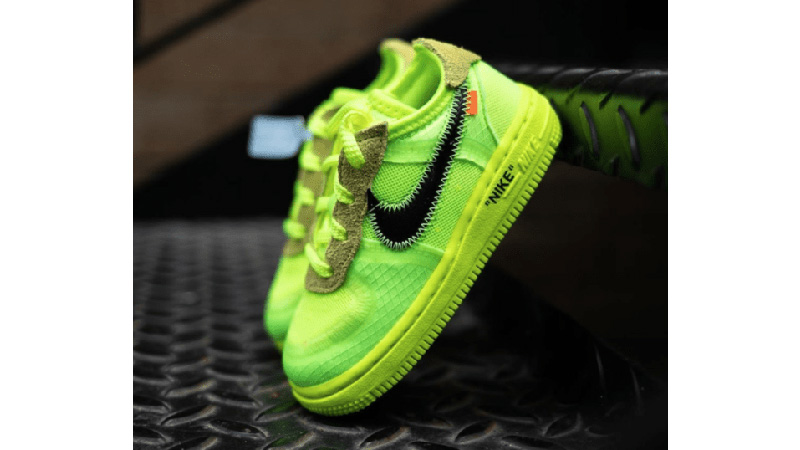 Off White x Nike Air Force 1 Low Toddler Volt Where To Buy