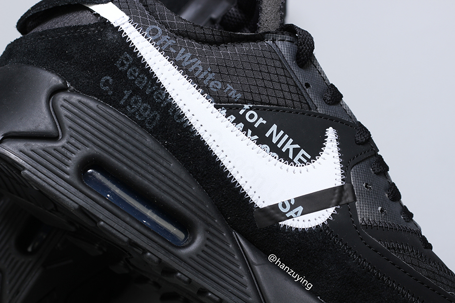 A Closer Look At The Off White x Nike Air Max 90 'Black