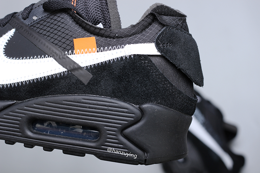 A Closer Look At The Off White x Nike Air Max 90 'Black