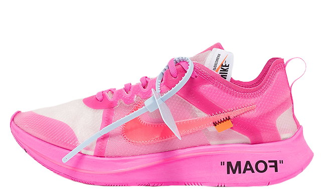 Off-White x Nike Zoom Fly SP Pink