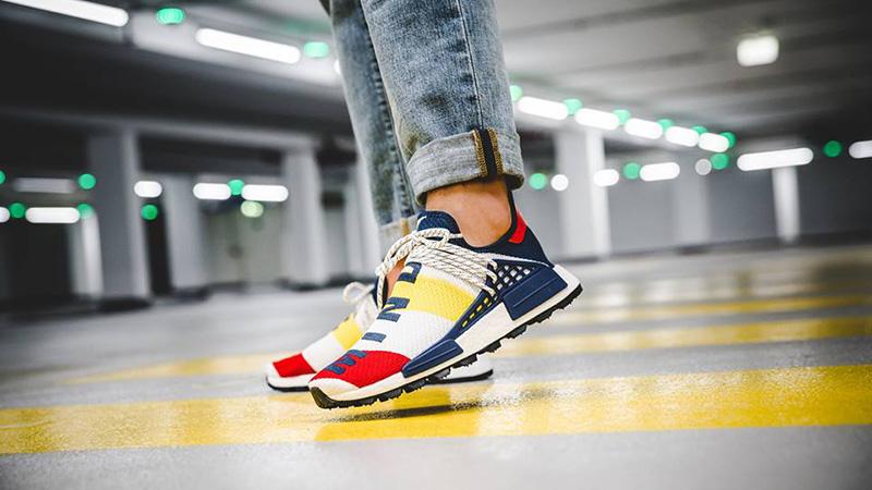 pharrell human race on feet- OFF 65