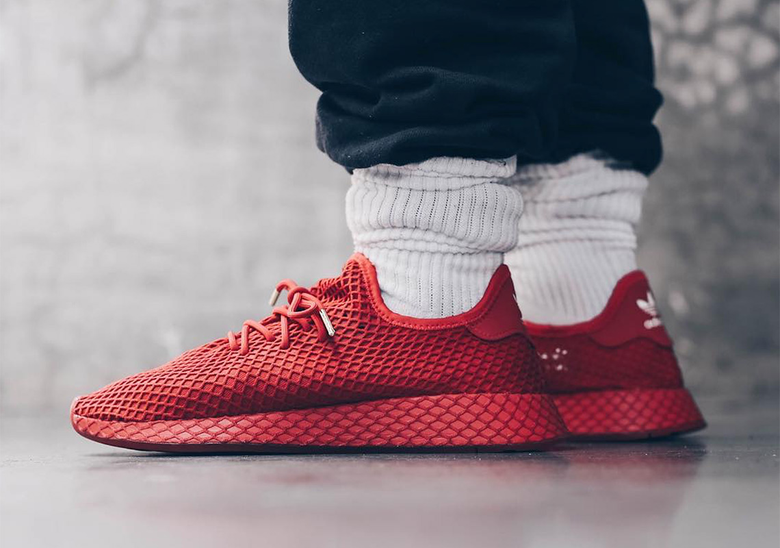 Paint The Town Red With The atmos x adidas Originals Deerupt