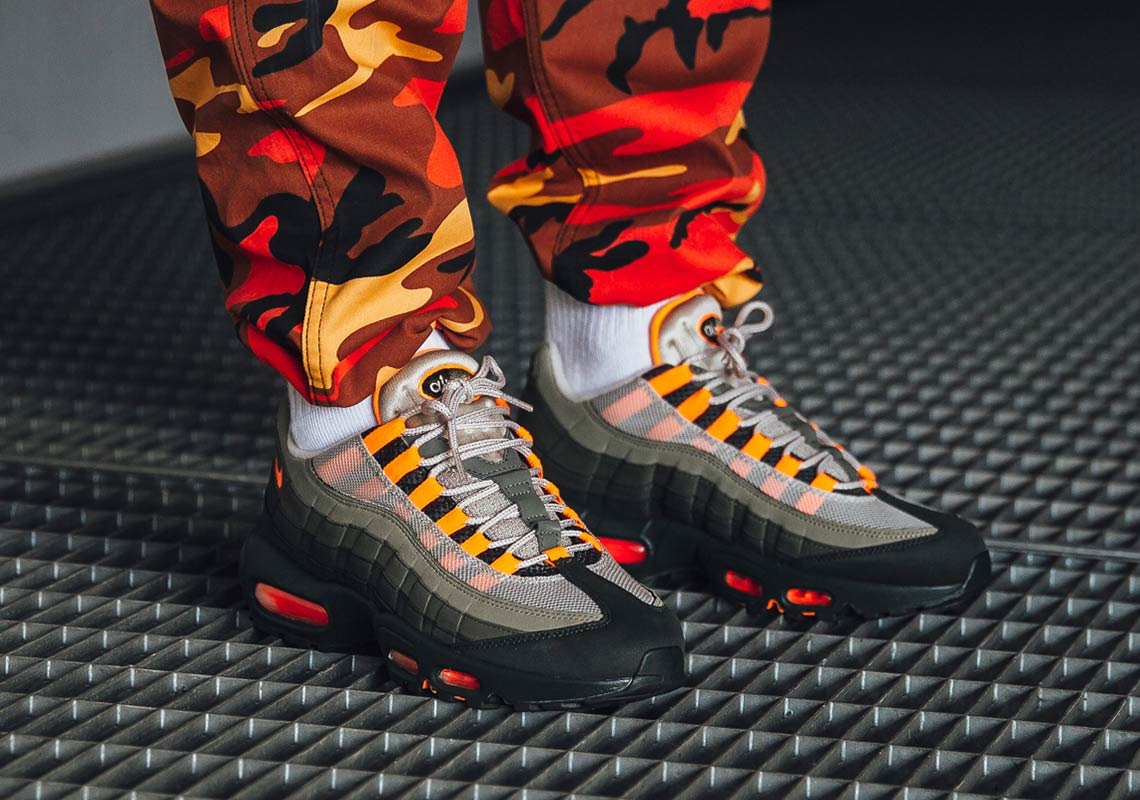 nike air max 95 olive green orange