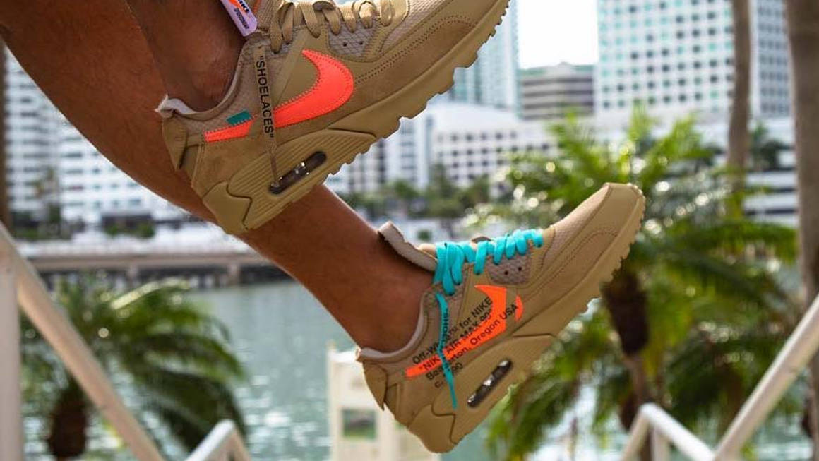 The Off-White x Nike Air Max 90 'Black' And 'Desert Ore' Get ...