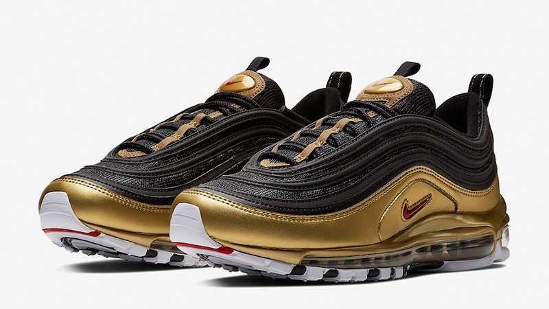 Contradicción Difuminar Bañera  Nike Air Max 97 Black Gold | Where To Buy | AT5458-002 | The Sole Supplier