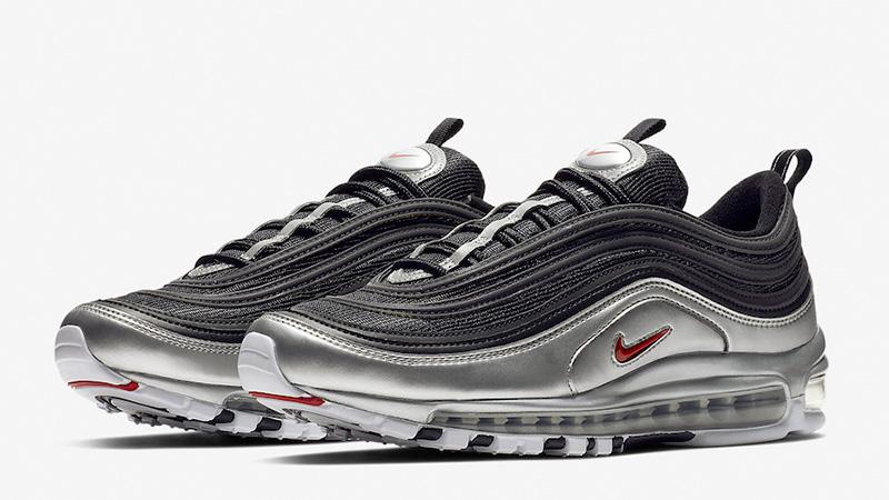air max 97 white black silver