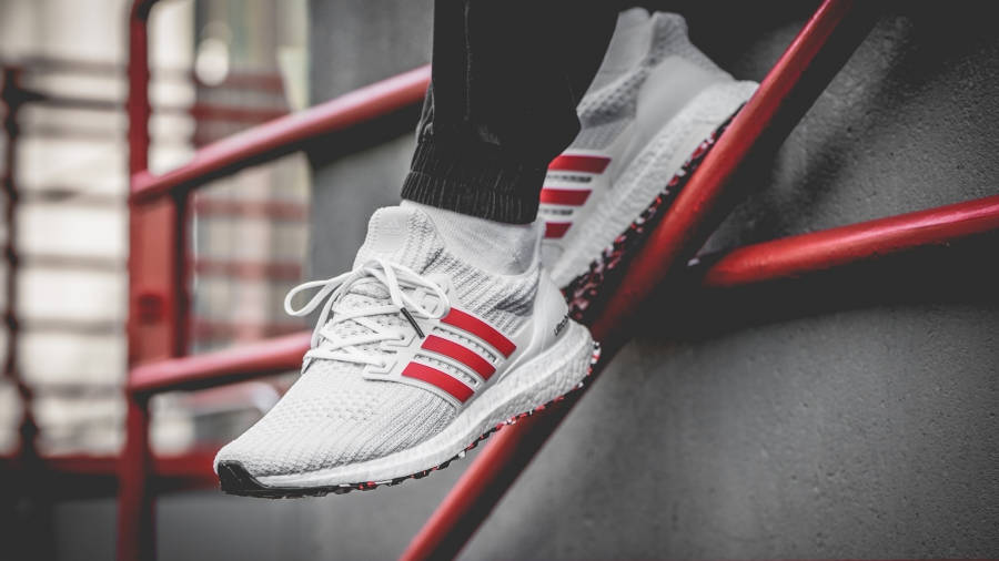 adidas Ultra Boost 4.0 White Red | Where To Buy | DB3199 | The ...