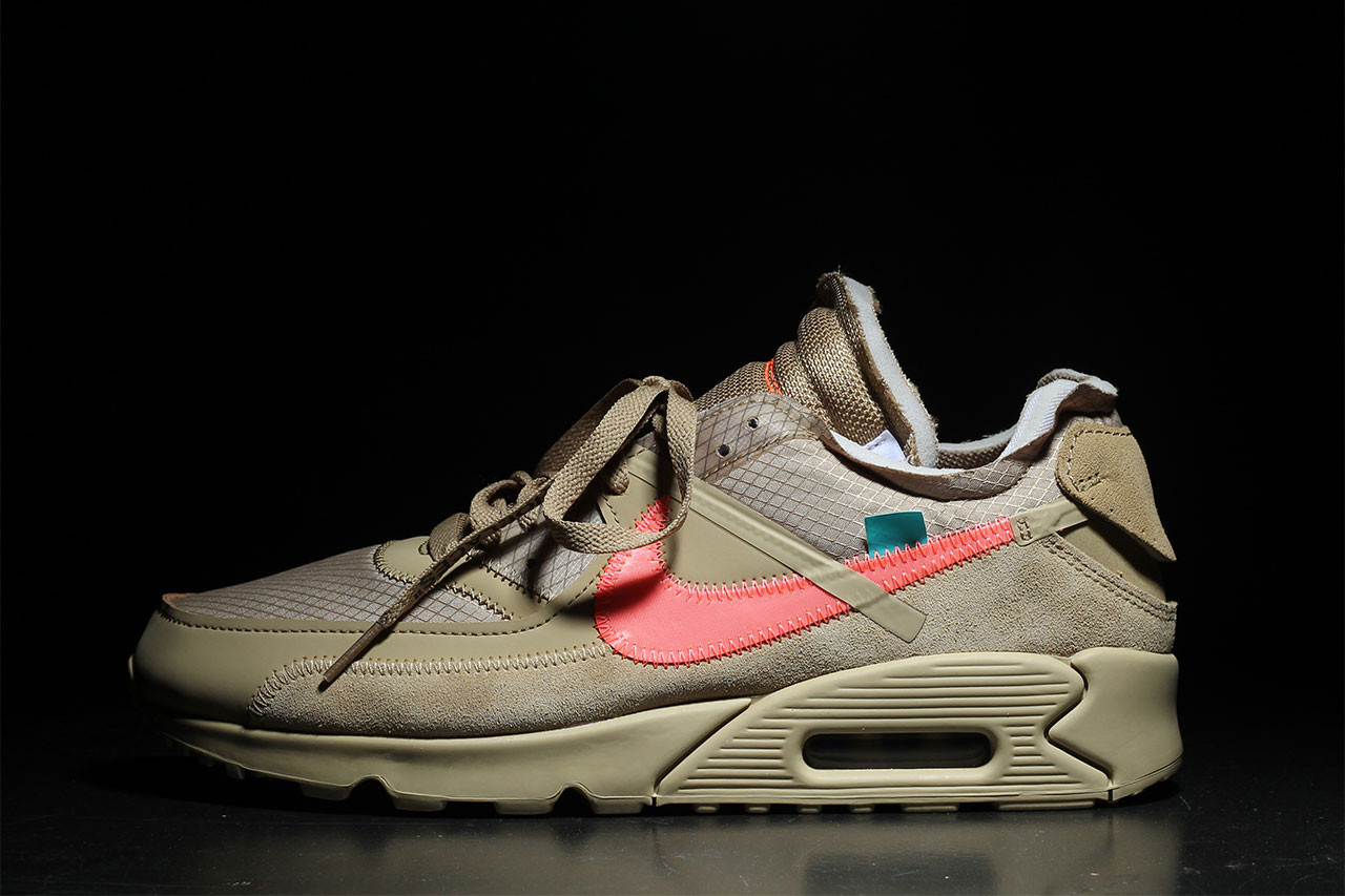 A Detailed Look At The Off White x Nike Air Max 90 'Desert