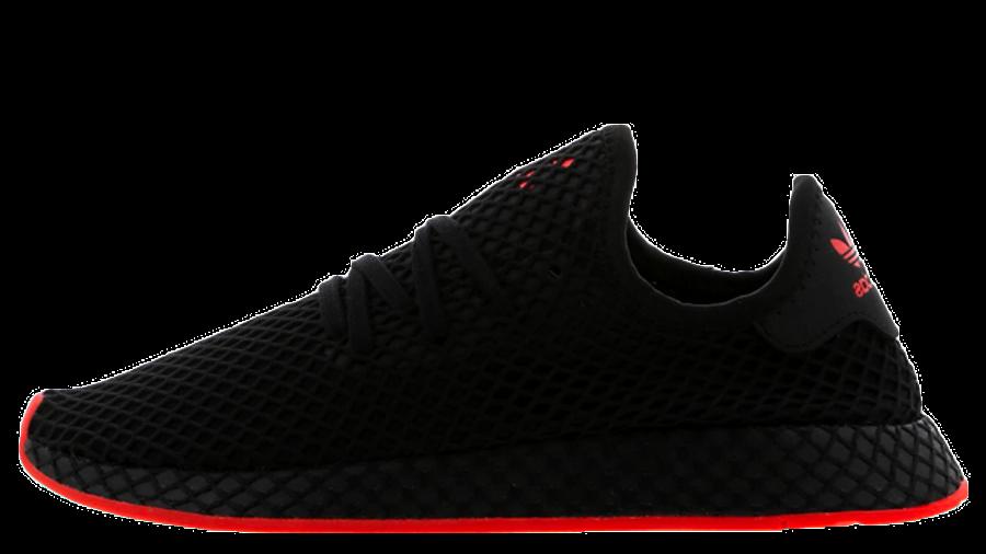 adidas Deerupt Black Red Foot Locker