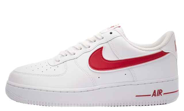 nike air force 1 red sole