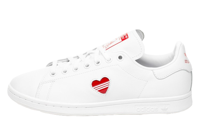 adidas Stan Smith White Red Valentines Day Pack Womens | G27893