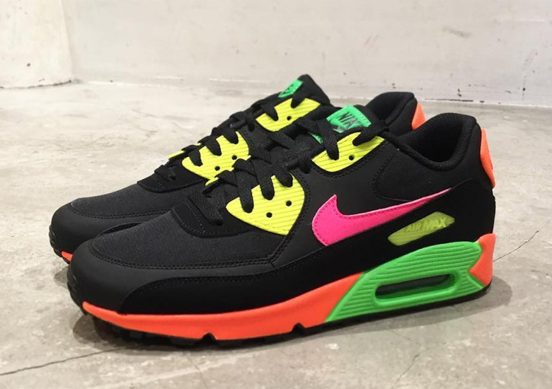 Neon Vibes Feature On The Nike Air Max 90 | The Sole Supplier