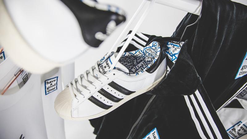 x adidas Superstar 80s White Black