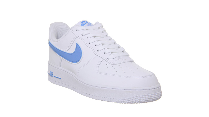 nike air force 1 white and light blue