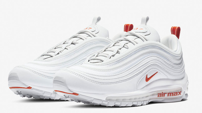 air max 97 blanche orange