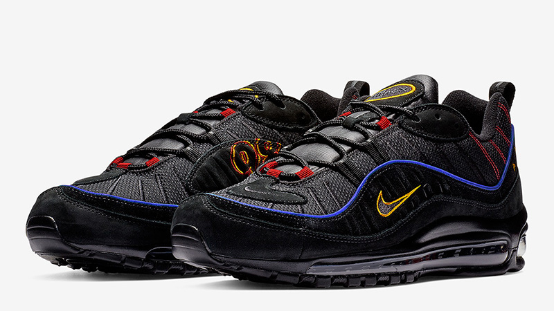 Generosidad Agente pavo  Nike Air Max 98 Black Blue | Where To Buy | CD1537-001 | The Sole Supplier