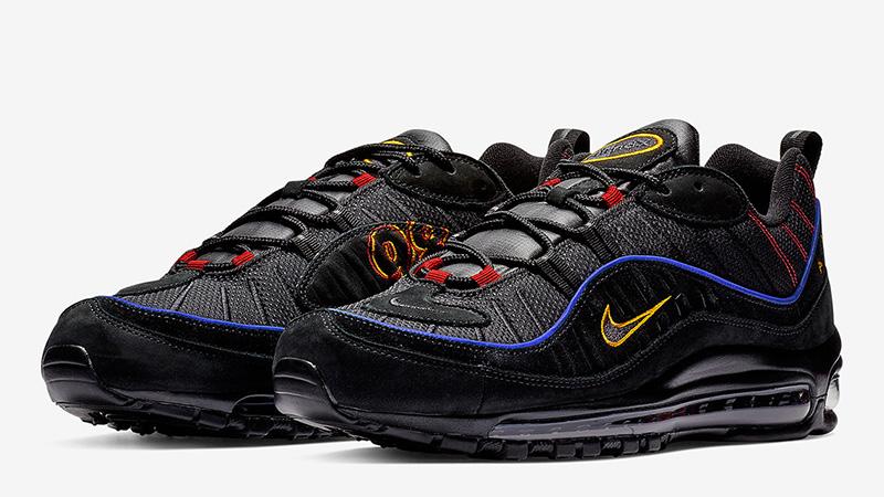 Humo Mal diseño  Nike Air Max 98 Black Blue | Where To Buy | CD1537-001 | The Sole Supplier