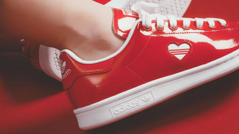 adidas Stan Smith Red White Valentines