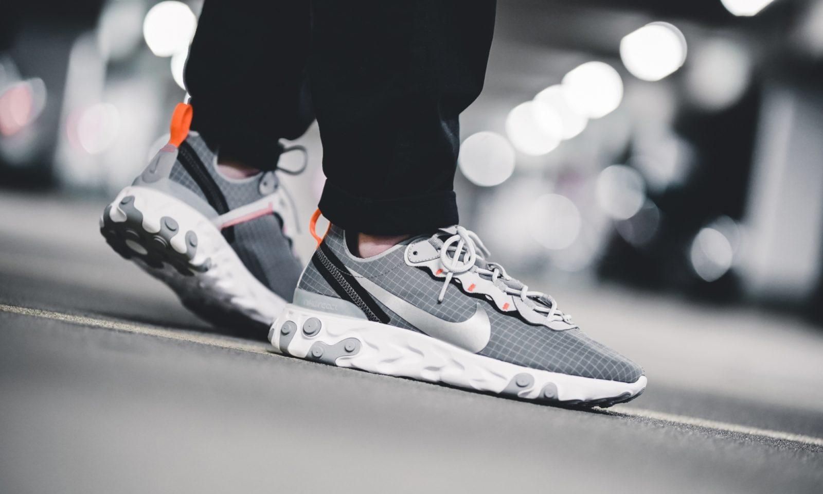 The Nike React Element 55 'Grey Grid