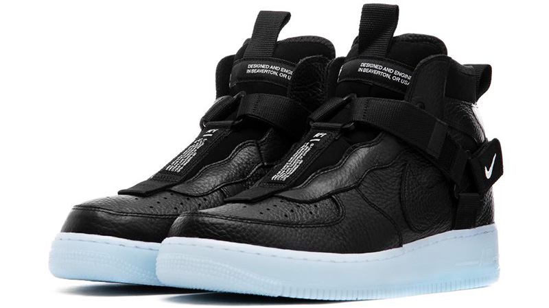 Nike Air Force 1 Mid Utility Black Blue Where To Buy Aq9758