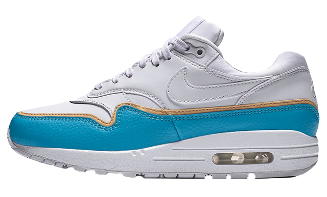 Nike Air Max 1 White Blue | 881101-103