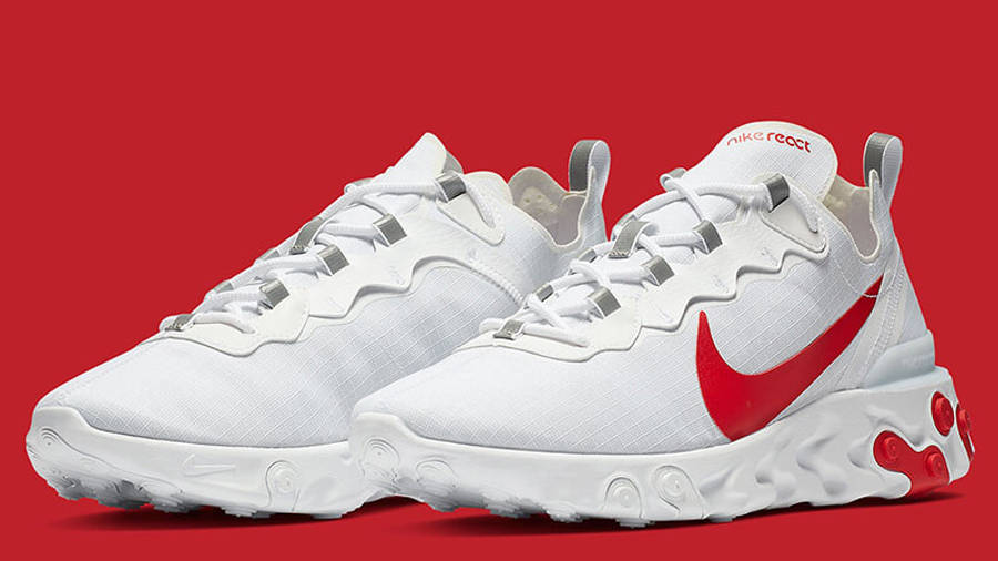 Nike React Element 55 White Red | Where