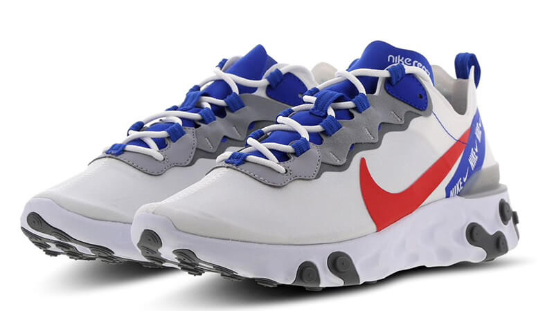 Nike React Element 55 White Red Blue