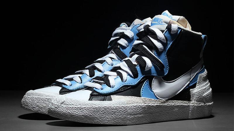 Sacai x Nike Blazer Mid Black Blue - Where To Buy - BV0072-001