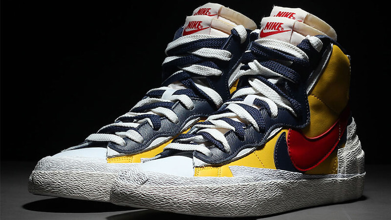 Sacai x Nike Blazer Mid Yellow Blue - Where To Buy - BV0072-700