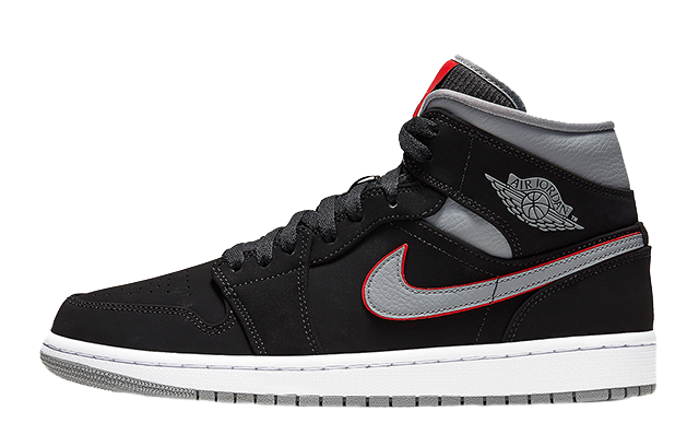 Irritato Gallina crema  Jordan 1 Mid Black Grey Red - Where To Buy - 554724-060 | The Sole Supplier