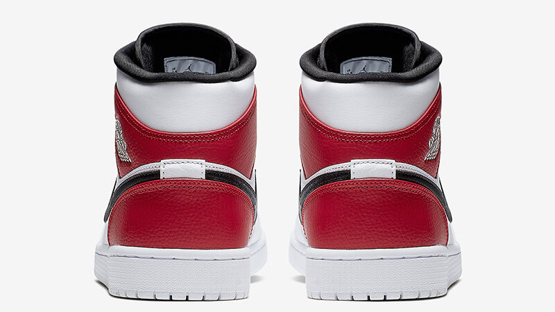 Jordan 1 Mid White Red | 554724-116 Back