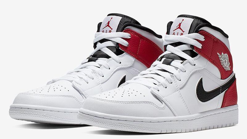 gama muy codiciada de mejor selección características sobresalientes Jordan 1 Mid White Red - Where To Buy - 554724-116 | The Sole Supplier