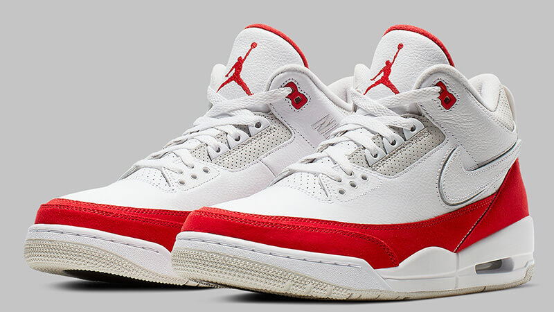 top design huge selection of separation shoes Jordan 3 Tinker White Red - Where To Buy - CJ0939-100 | The Sole ...