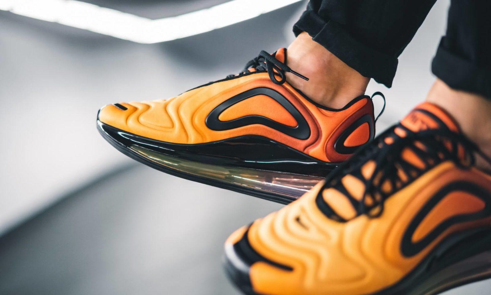 air max 720 orange on feet