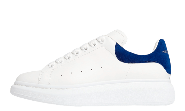 Alexander McQueen Exaggerated Sole White Blue