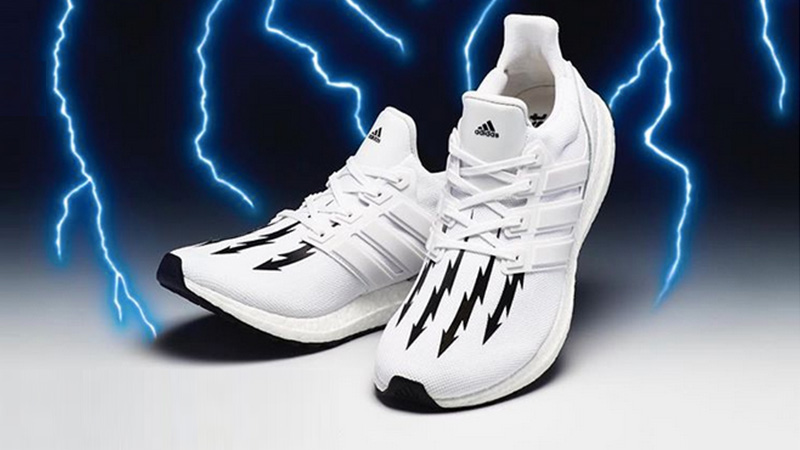 Neighborhood x adidas Ultra Boost White Black lifestyle