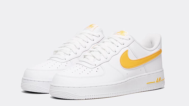 Latest Nike Air Force 1 '07 3 White Yellow AO2423 105 On Sale
