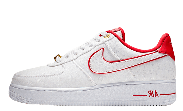 Nike Air Force 1 07 Lux White Red Womens