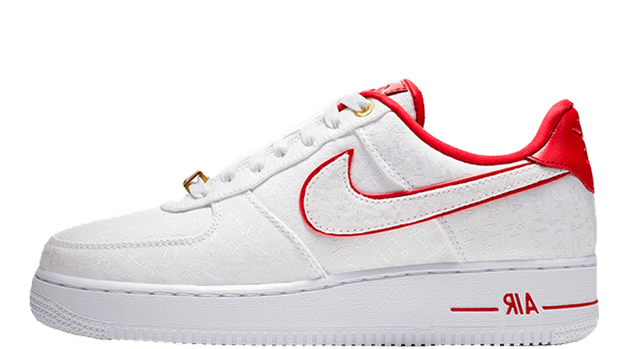Nike Air Force 1 07 Lux White Red