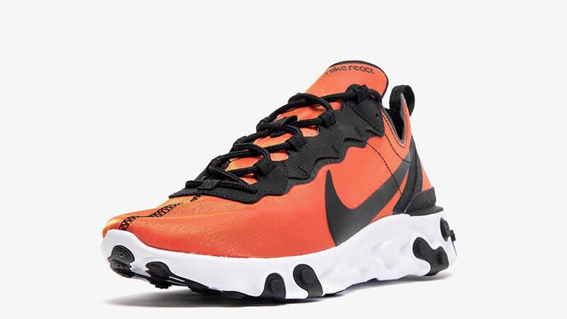 Nike React Element 55 Premium Orange Black