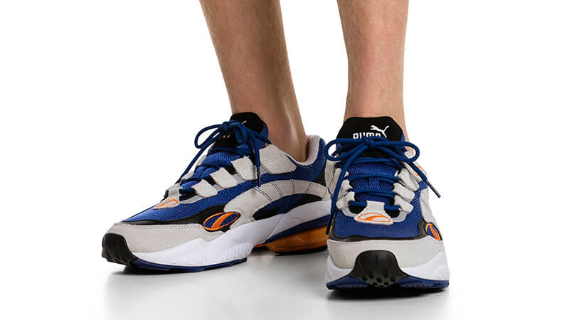 PUMA Cell Venom Blue White 369354-02 on foot
