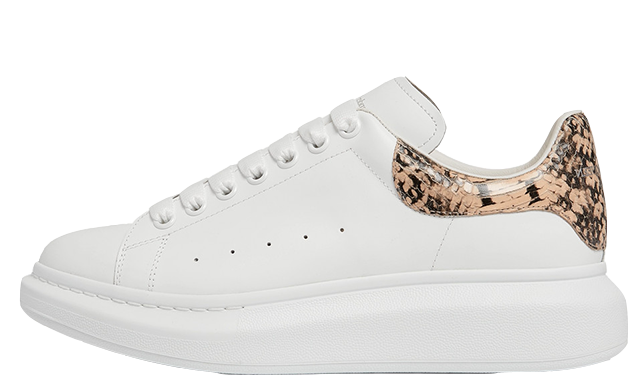 Alexander McQueen Exaggerated Sole Snake White