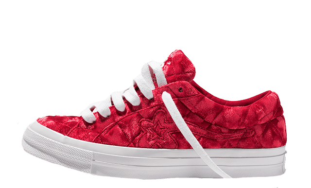 Converse One Star x Golf Le Fleur Red 165598C front