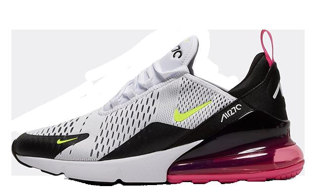 Nike Air Max 270 White Volt Laser Fuchsi