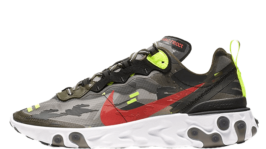 Nike React Element 87 Camo Volt | Where